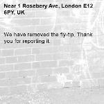 We have removed the fly-tip. Thank you for reporting it.-1 Rosebery Ave, London E12 6PY, UK