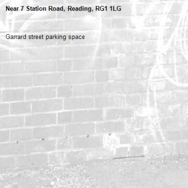 Garrard street parking space -7 Station Road, Reading, RG1 1LG