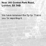 We have removed the fly-tip. Thank you for reporting it.-366 Central Park Road, London, E6 3AB