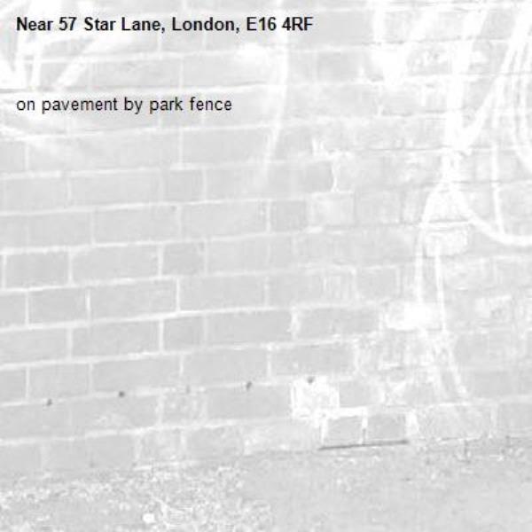 on pavement by park fence-57 Star Lane, London, E16 4RF