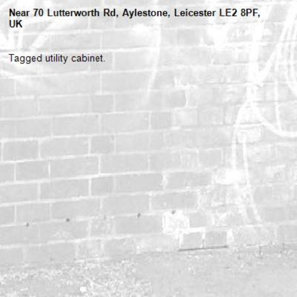 Tagged utility cabinet.-70 Lutterworth Rd, Aylestone, Leicester LE2 8PF, UK