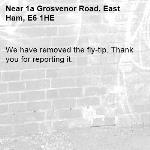We have removed the fly-tip. Thank you for reporting it.-1a Grosvenor Road, East Ham, E6 1HE