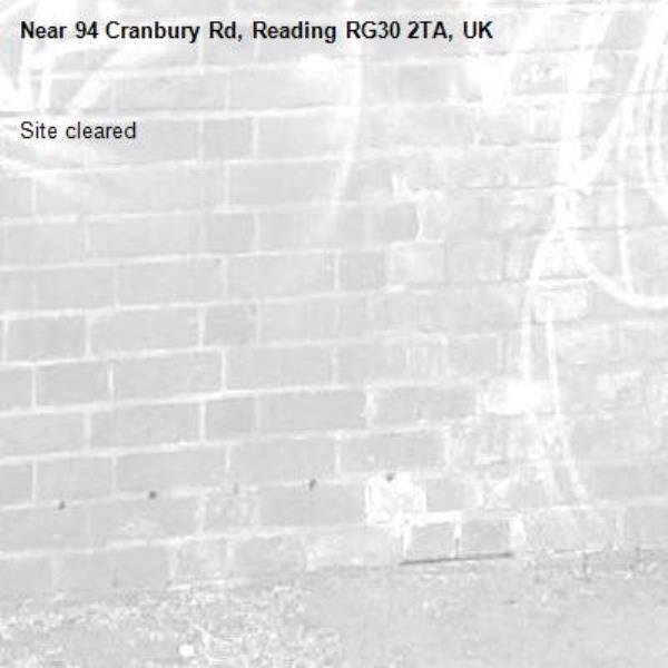 Site cleared -94 Cranbury Rd, Reading RG30 2TA, UK