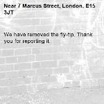 We have removed the fly-tip. Thank you for reporting it.-7 Marcus Street, London, E15 3JT