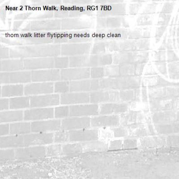 thorn walk litter flytipping needs deep clean-2 Thorn Walk, Reading, RG1 7BD