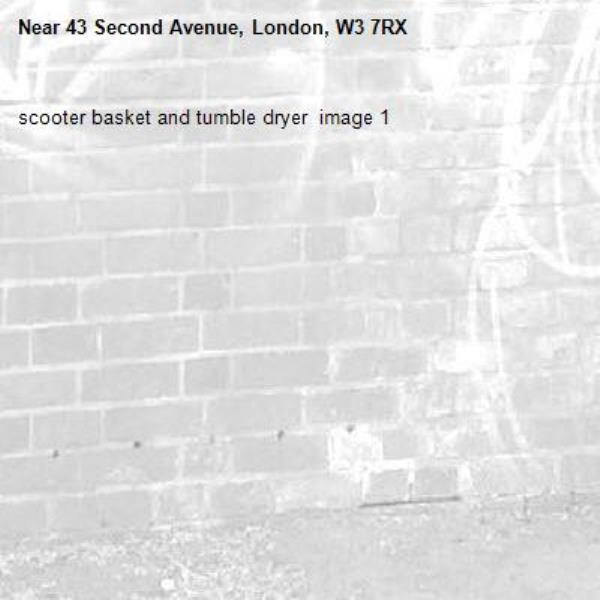 scooter basket and tumble dryer  image 1-43 Second Avenue, London, W3 7RX