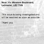 This issue is being investigated and will be resolved as soon as possible.   Thank you -35c Western Boulevard, Leicester, LE2 7HN