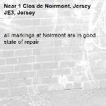 all markings at Noirmont are in good state of repair-1 Clos de Noirmont, Jersey JE3, Jersey