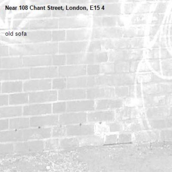 old sofa-108 Chant Street, London, E15 4