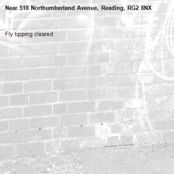 Fly tipping cleared -518 Northumberland Avenue, Reading, RG2 8NX