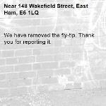 We have removed the fly-tip. Thank you for reporting it.-148 Wakefield Street, East Ham, E6 1LQ