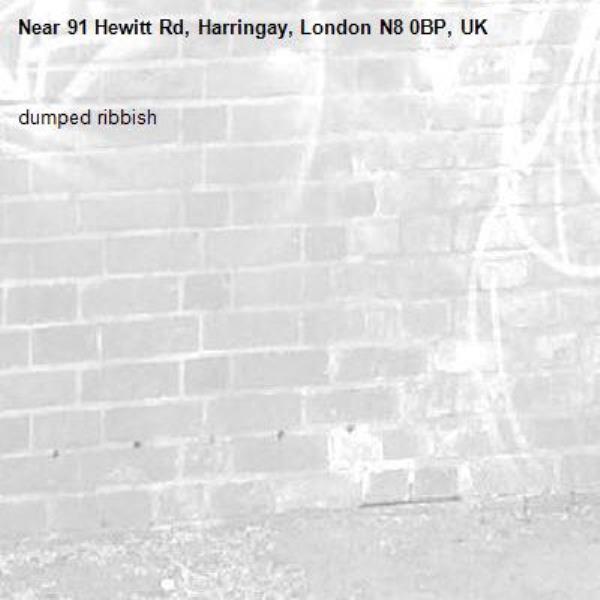 dumped ribbish-91 Hewitt Rd, Harringay, London N8 0BP, UK