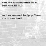 We have removed the fly-tip. Thank you for reporting it.-100 Saint Bernard's Road, East Ham, E6 1LD