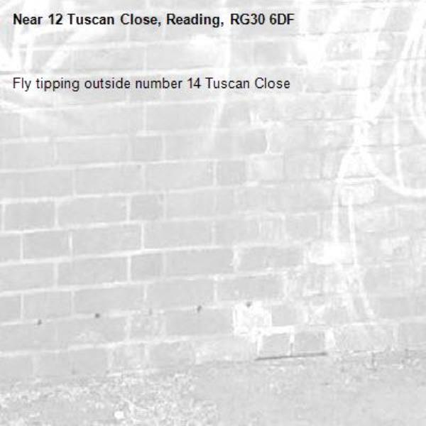 Fly tipping outside number 14 Tuscan Close-12 Tuscan Close, Reading, RG30 6DF