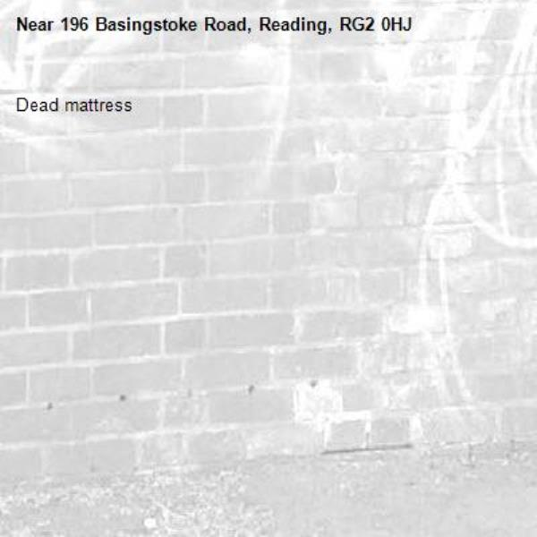 Dead mattress-196 Basingstoke Road, Reading, RG2 0HJ