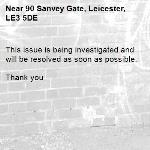 This issue is being investigated and will be resolved as soon as possible.   Thank you -90 Sanvey Gate, Leicester, LE3 5DE
