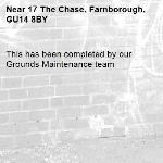This has been completed by our Grounds Maintenance team-17 The Chase, Farnborough, GU14 8BY