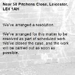 We've arranged a resolution.