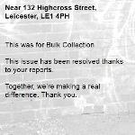 This was for Bulk Collection 