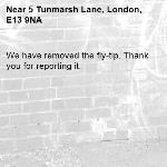 We have removed the fly-tip. Thank you for reporting it.-5 Tunmarsh Lane, London, E13 9NA