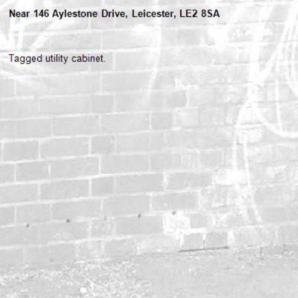 Tagged utility cabinet.-146 Aylestone Drive, Leicester, LE2 8SA