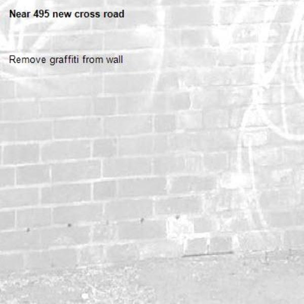 Remove graffiti from wall-495 new cross road