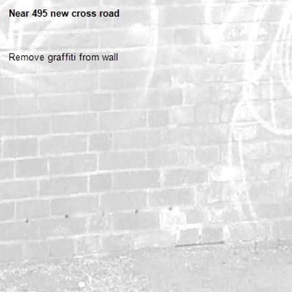 Remove graffiti from wall-495 new cross road