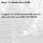 Logged For Enforcement/ASB team to deal with the issue Ref:WK458338-132 North View rd N8