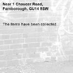The items have been collected.-1 Chaucer Road, Farnborough, GU14 8SW