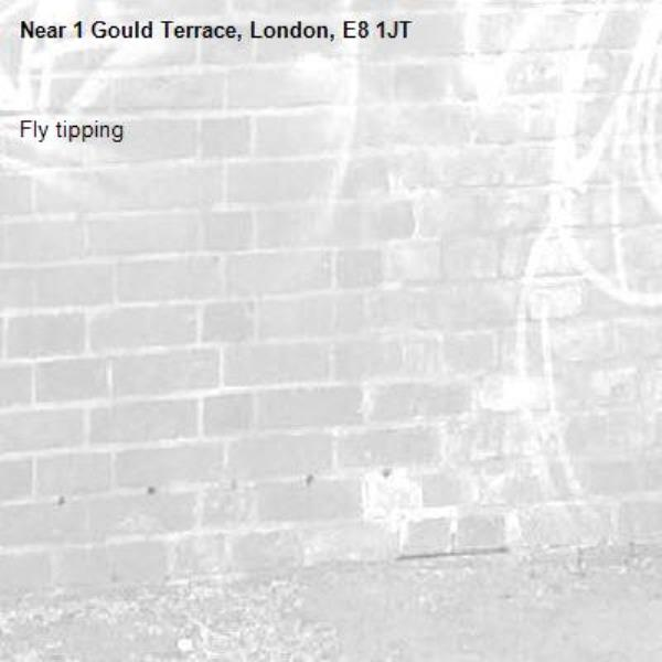 Fly tipping -1 Gould Terrace, London, E8 1JT