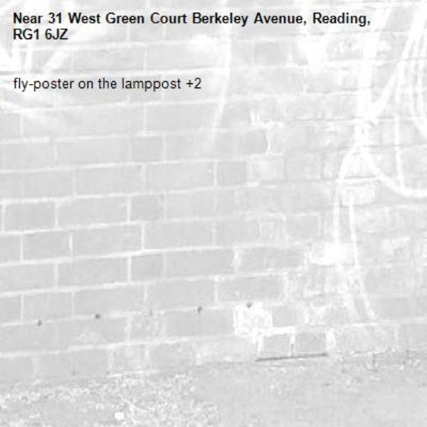fly-poster on the lamppost +2-31 West Green Court Berkeley Avenue, Reading, RG1 6JZ