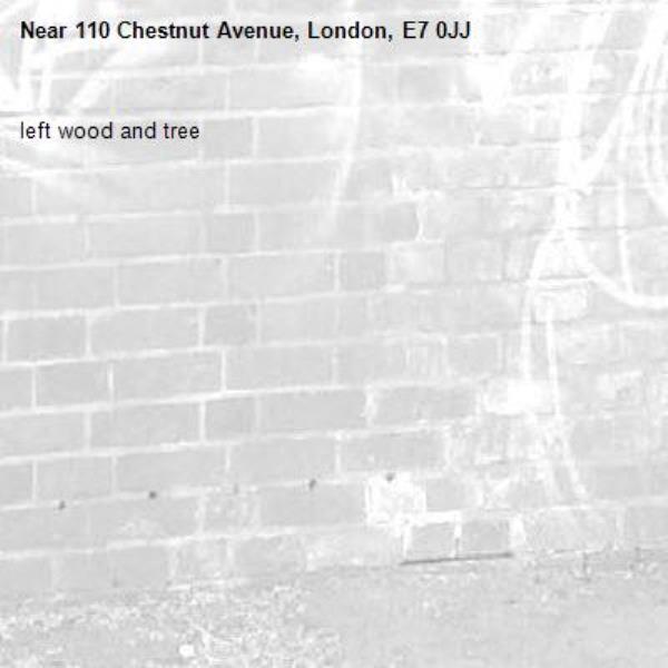 left wood and tree-110 Chestnut Avenue, London, E7 0JJ