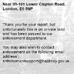 Thank you for your report, but unfortunately this is on private land and has been passed to our enforcement department.