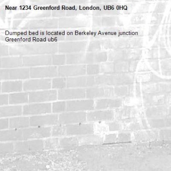 Dumped bed is located on Berkeley Avenue junction Greenford Road ub6 -1234 Greenford Road, London, UB6 0HQ