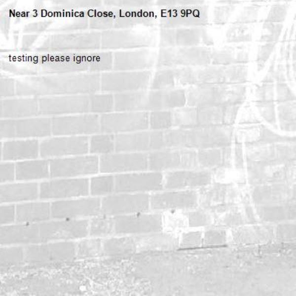 testing please ignore-3 Dominica Close, London, E13 9PQ