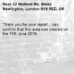 Thank you for your report, I can confirm that this area was cleared on the 11th June 2019.
