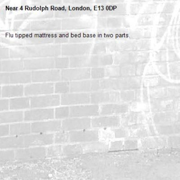Flu tipped mattress and bed base in two parts. -4 Rudolph Road, London, E13 0DP