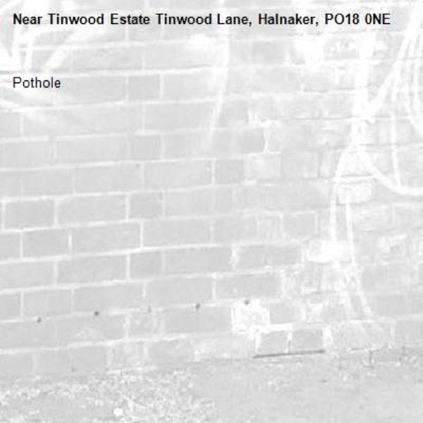 Pothole-Tinwood Estate Tinwood Lane, Halnaker, PO18 0NE