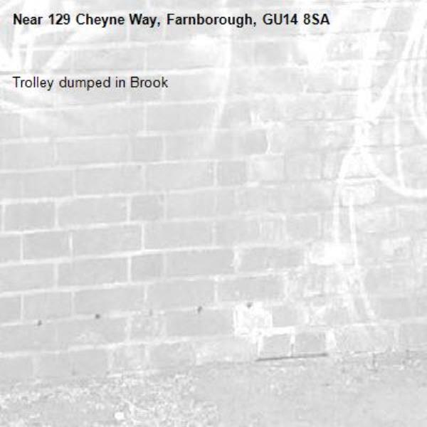 Trolley dumped in Brook  -129 Cheyne Way, Farnborough, GU14 8SA