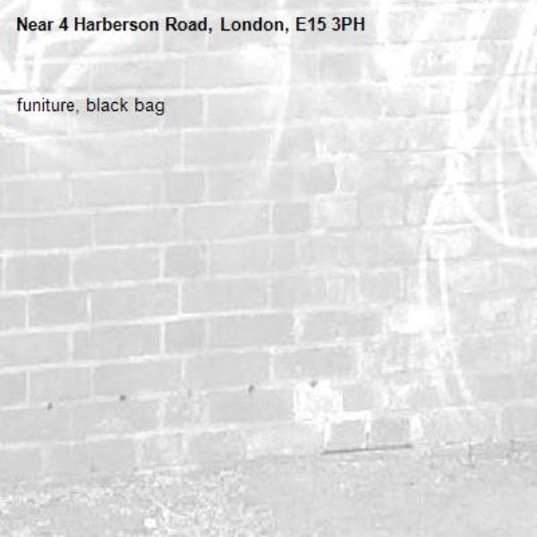 funiture, black bag-4 Harberson Road, London, E15 3PH