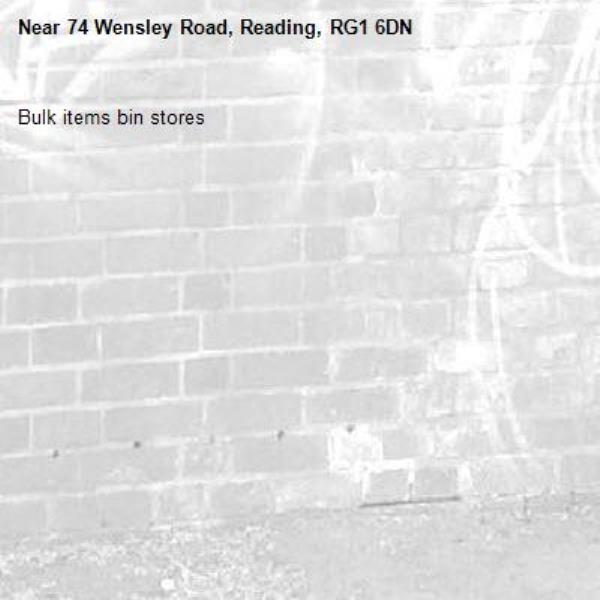 Bulk items bin stores-74 Wensley Road, Reading, RG1 6DN