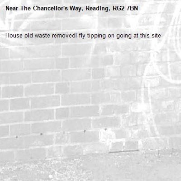 House old waste removedl fly tipping on going at this site -The Chancellor's Way, Reading, RG2 7BN