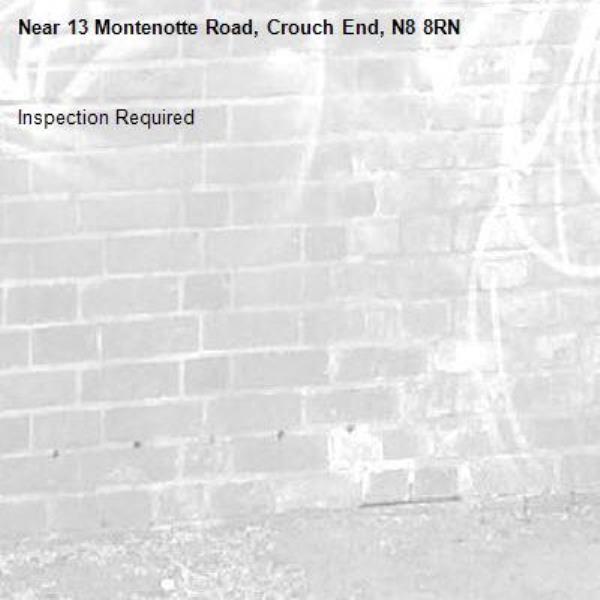 Inspection Required-13 Montenotte Road, Crouch End, N8 8RN