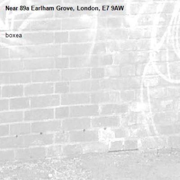 boxea-89a Earlham Grove, London, E7 9AW