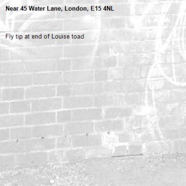 Fly tip at end of Louise toad-45 Water Lane, London, E15 4NL