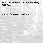 Marked for repair thank you -102 Wolseley Street, Reading, RG1 6AY
