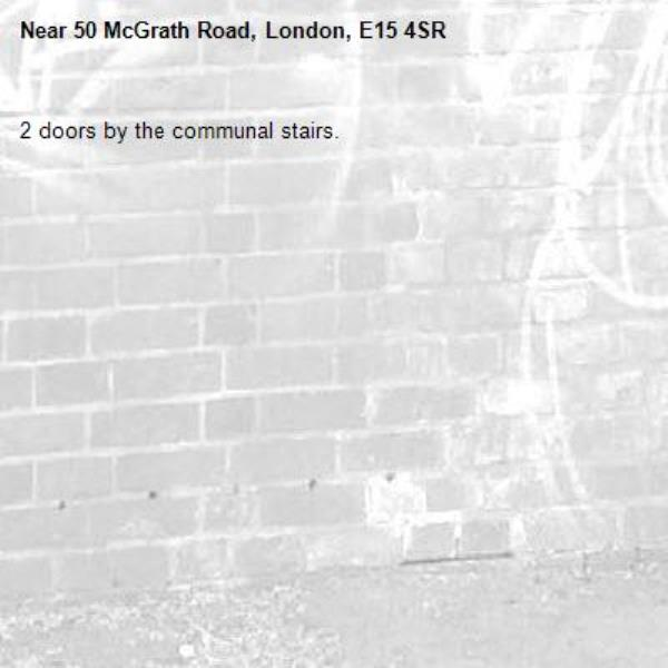 2 doors by the communal stairs.-50 McGrath Road, London, E15 4SR
