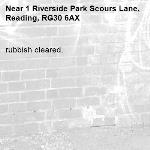 rubbish cleared.-1 Riverside Park Scours Lane, Reading, RG30 6AX