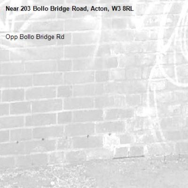 Opp Bollo Bridge Rd-203 Bollo Bridge Road, Acton, W3 8RL