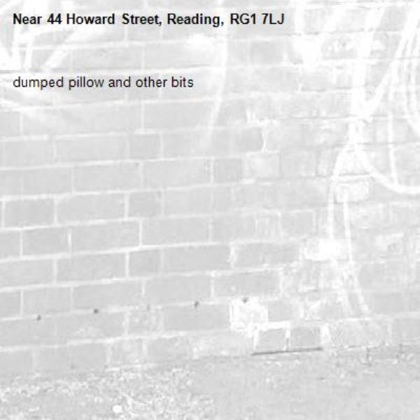 dumped pillow and other bits -44 Howard Street, Reading, RG1 7LJ